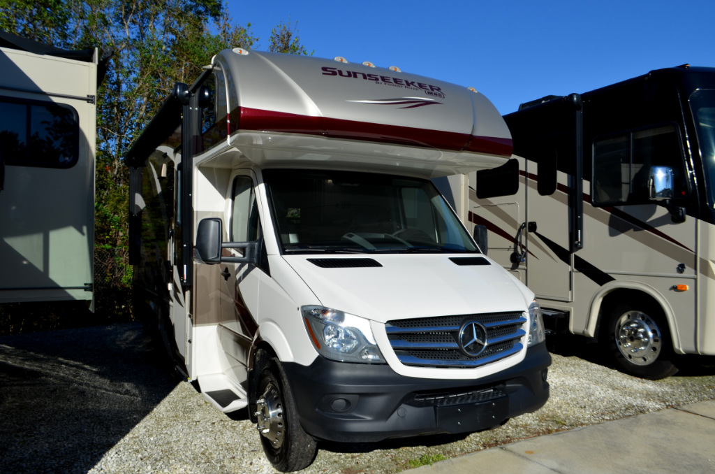 New 2018 forest river rv sunseeker mbs 2400w motor home for Sun motor cars mercedes benz