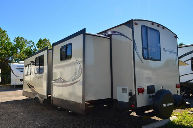 Used 2014 forest river rv wildwood heritage glen 300bh travel trailer for sale