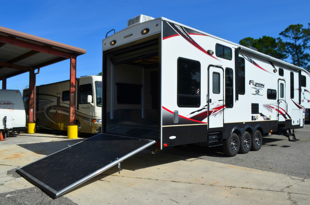 Used 2012 keystone rv fuzion 360 toy hauler fifth wheel at for Motor home toy haulers