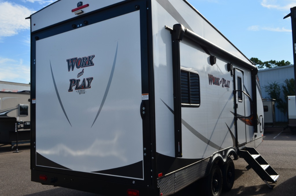 Work And Play Toy Hauler >> New 2019 Forest River RV Work and Play 19WCB Toy Hauler Travel Trailer at Dick Gore's RV World ...