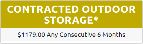 Contracted Outdoor Storage - $1179.00 Any Consecutive 6 Months