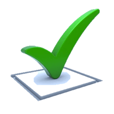 A green checkmark sitting within a checkbox.