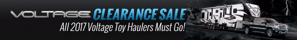 Voltage Toy Hauler Clearance Sale mini banner