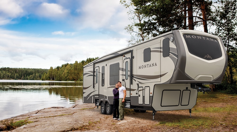 Couple with RV