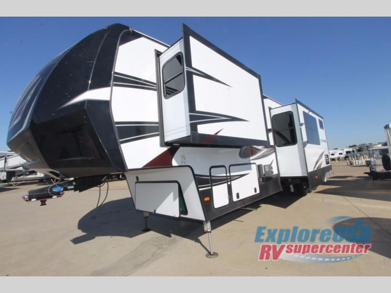 New 2018 Dutchmen Rv Voltage Epic 4150 Toy Hauler Fifth