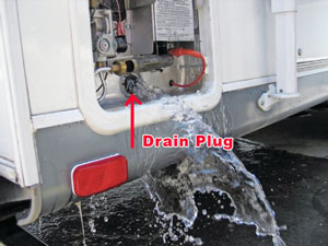 RV Water Heater Drain Plug