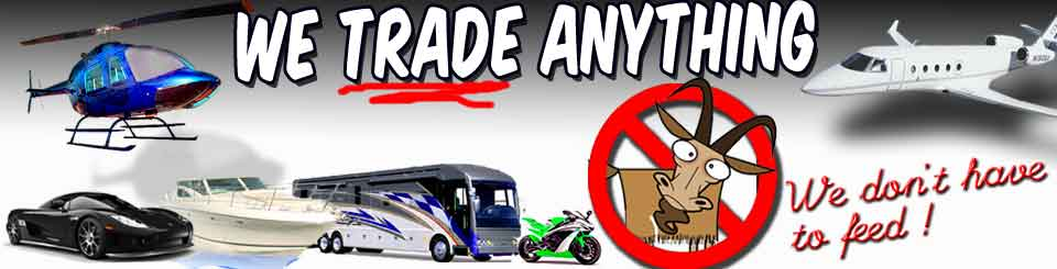 We Trade RVs for Anything