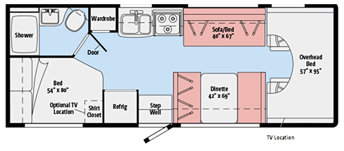 Winnebago RV Rental Floorplan
