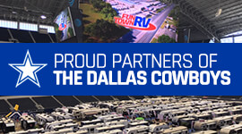 Proud partners of the dallas cowboys