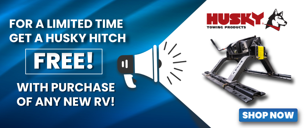 Limited Time FREE Husky Htich with Purchase!