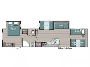 Kingsport Special Edition Series 380FRS Floorplan Image
