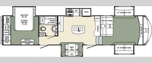 Columbus 381FL Floorplan