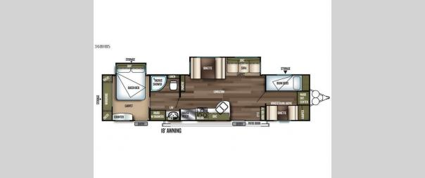 Wildwood 36BHDS Floorplan