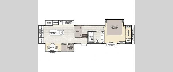 Cedar Creek Champagne 38ERK Floorplan