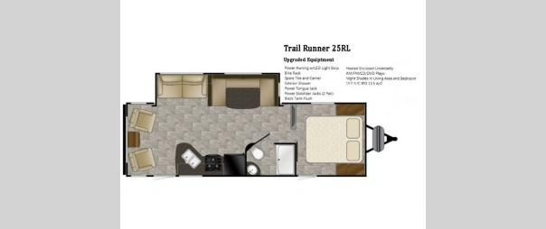 Trail Runner 25RL Floorplan