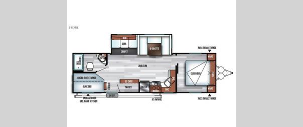 Salem 27DBK Floorplan