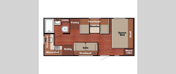 Kingsport Super Lite 199RK Floorplan