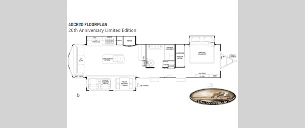 Cedar Creek Cottage Limited Edition 40CR20 Floorplan