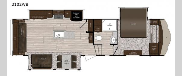 Sanibel 3102RSWB Floorplan