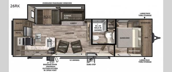 Vibe 26RK Floorplan