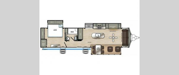 Sandpiper Destination Trailers 401FLX Floorplan