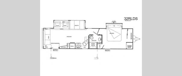 Wildwood 32RLDS Floorplan