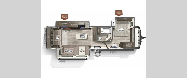 Rockwood Signature Ultra Lite 8337RL Floorplan