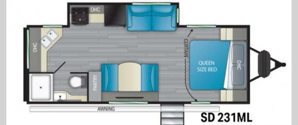 Sundance Ultra Lite 231ML Floorplan