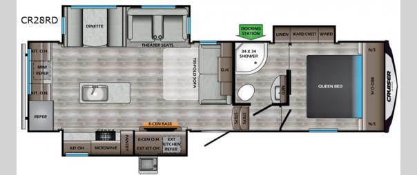 Cruiser Aire 28RD Floorplan