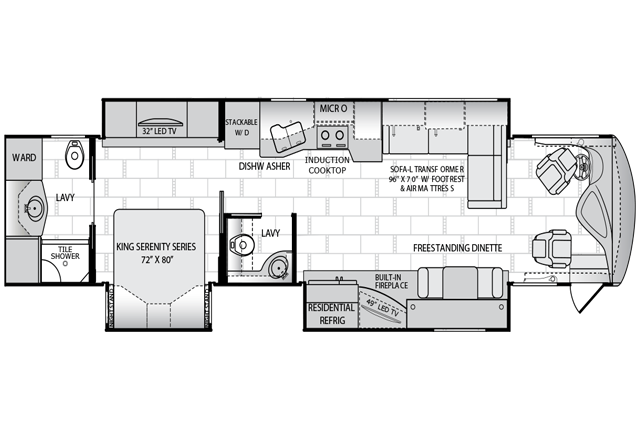 Dream SE 40L floorplan