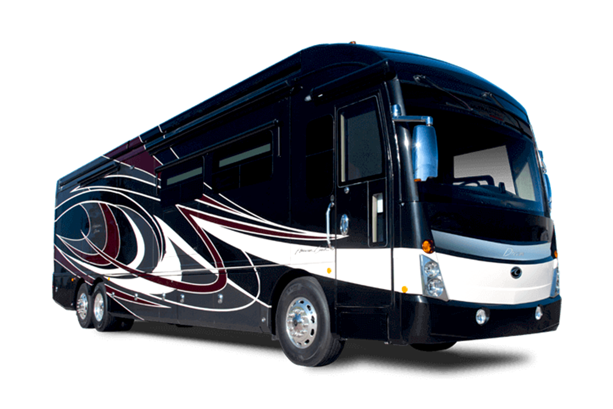 American Dream luxury diesel class a motorhome exterior photo