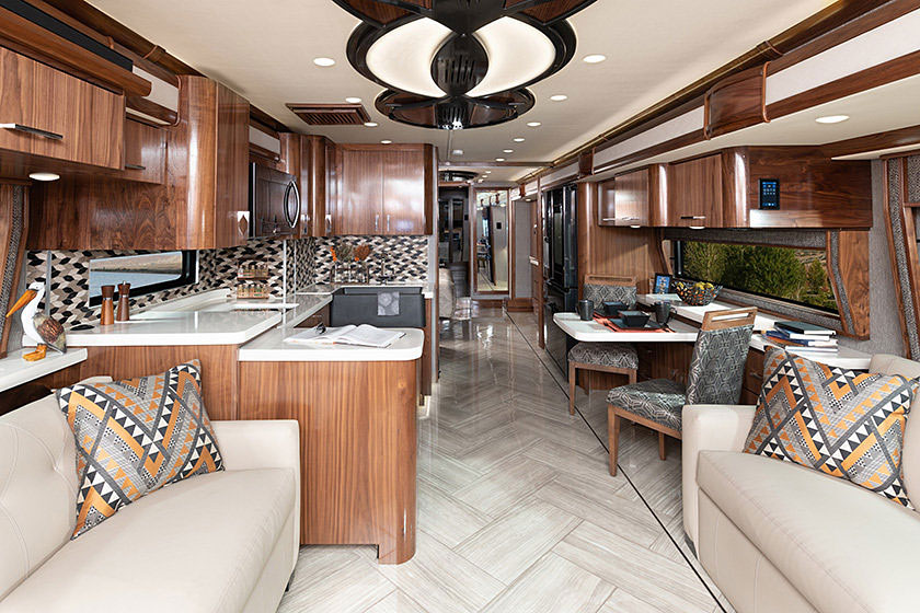American Eagle Class A Motorhome Interior