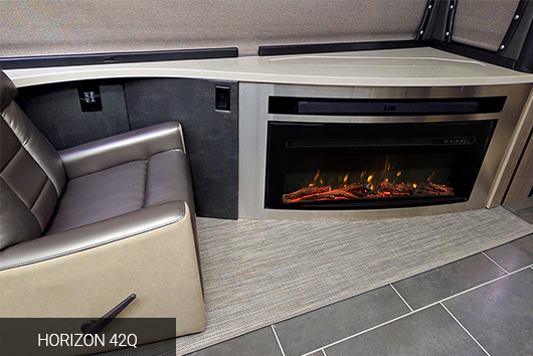 Winnebago Horizon 42Q Fireplace
