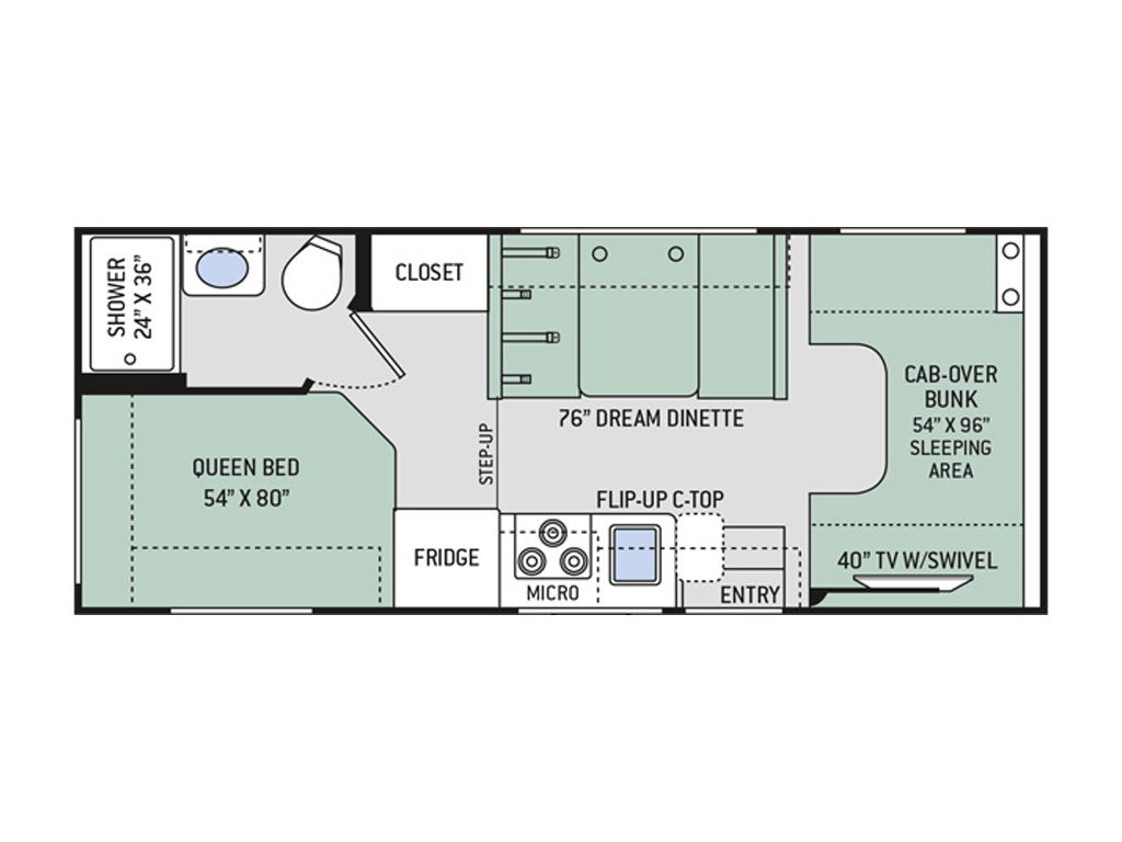Four Winds 22E Rental Floorplan