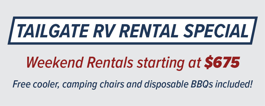 Tailgate RV Rental Special