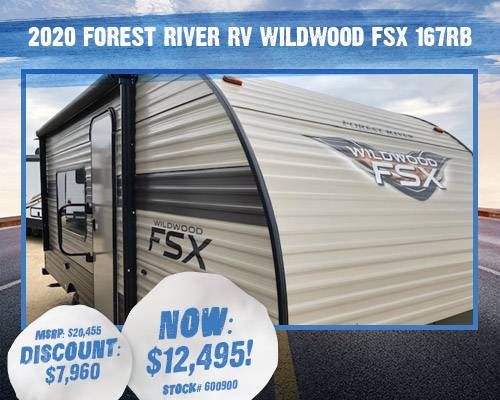 2020 Forest River RV Wildwood FSX 167RB