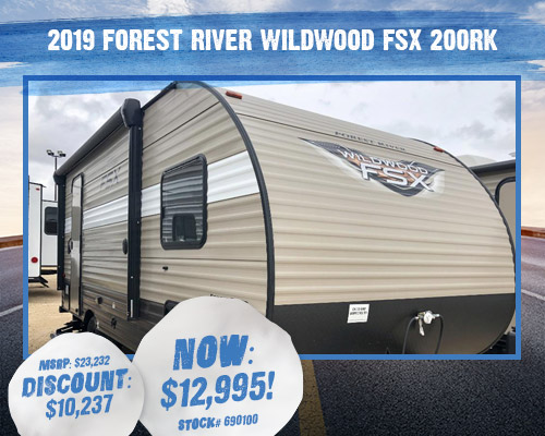 2019 Forest River Wildwood FSX 200RK