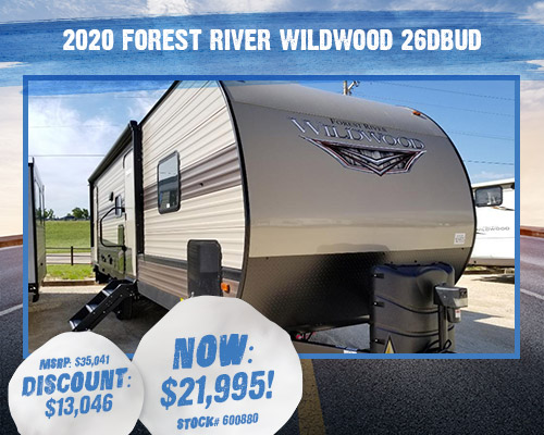 2020 Forest River Wildwood 26DBUD