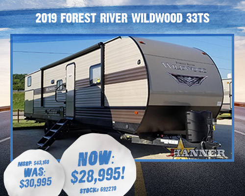 2019 Forest River RV Wildwood 33TS