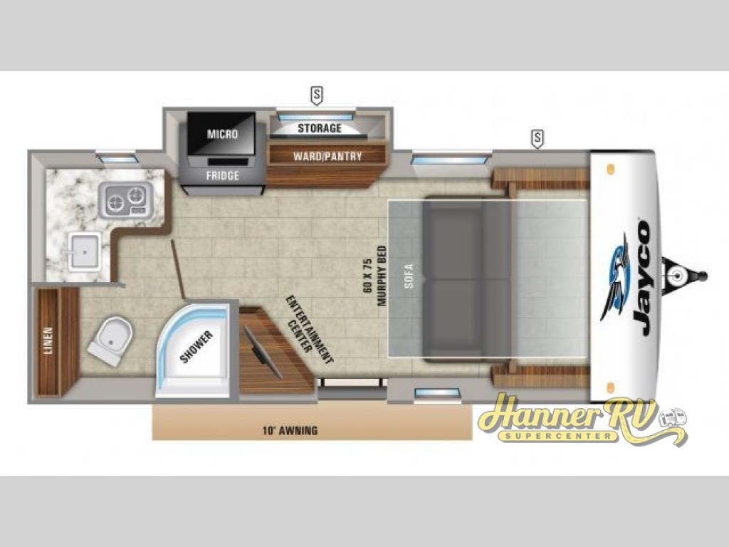 New 2019 Jayco Hummingbird 17MBS Travel Trailer at Hanner RV ... Jayco Camper Slide Out Wiring Diagram on