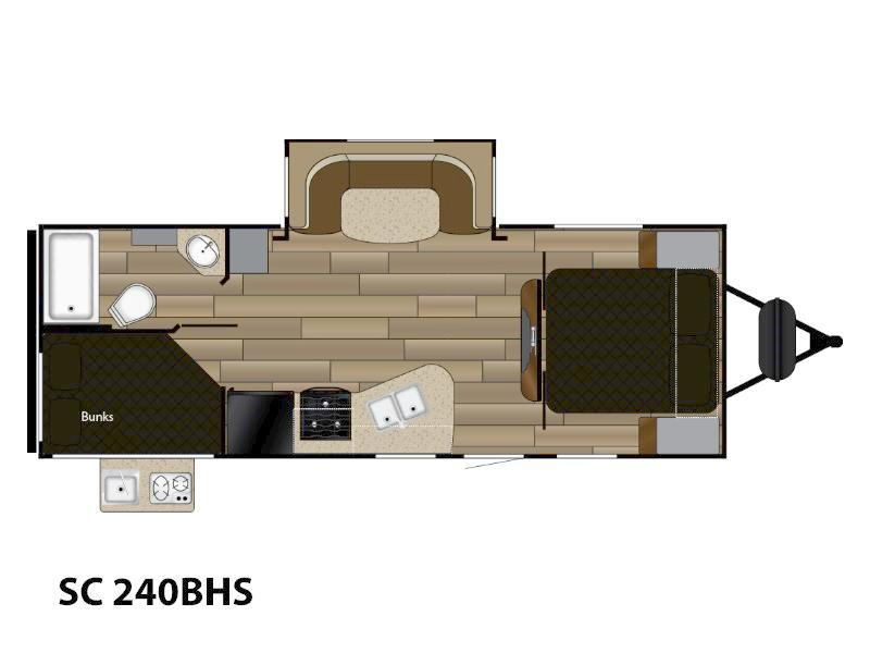 2018 Cruiser RV Shadow Cruiser SC 240BHS Floorplan