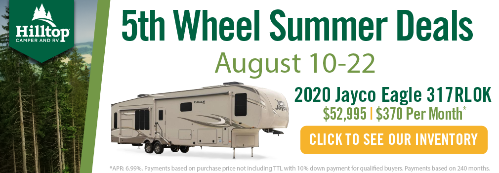 5th Wheel Summer Deals