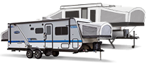 folding camper and expandables icon