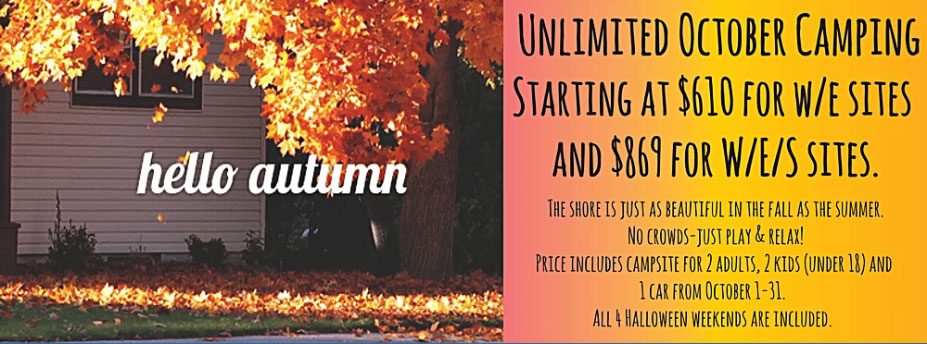 unlimited october camping
