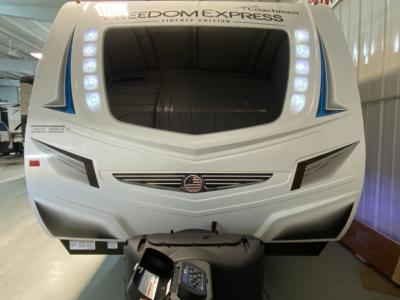 Lighted gel-coat front cap with window