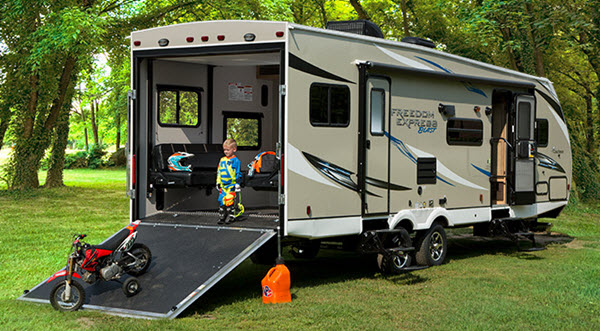 Coachmen RV Freedom Express Blast Toy Hauler Travel Trailer