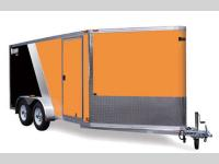 Aluminum Cargo Trailers Stock Photo