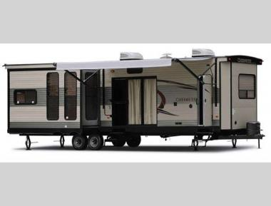 Cherokee Destination Trailers Stock Photo