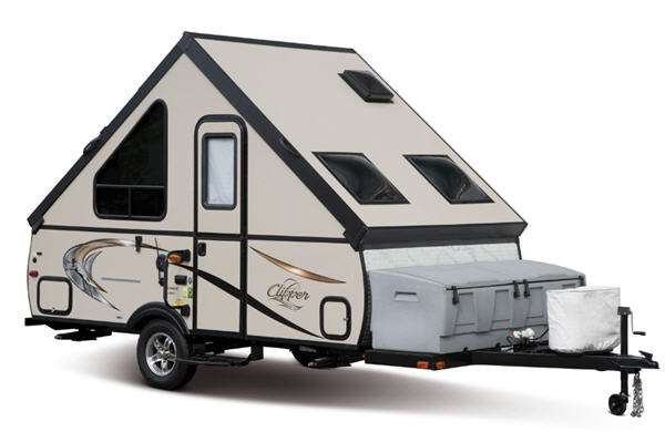 Clipper Camping Trailers Stock Photo