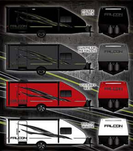 New Travel Lite Falcon F-23TH Toy Hauler Travel Trailer for